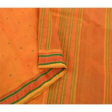 Sanskriti Vintage Yellow Sarees Pure Silk Woven Craft Fabric Traditional Sari