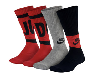 Nike 3-pk. Boy's Performance Training Crew Socks 3Y-5Y, 5Y-7Y Red/Black/Grey