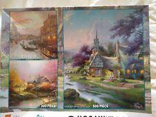 New ListingCeaco Thomas Kinkade 3 Jigsaw Puzzles-Painter of Light-100, 300, 500 Pieces New