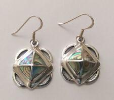 Sterling Silver Art Deco Style Pau/Abalone Shell Earring.