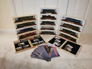 Atlas Editions Railway Model Trains On Wooden Plinths Bundle x13 Trains & Extras