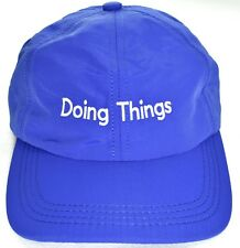 """OUTDOOR VOICES """"Doing Things"""" Adjustable Running Hat/Cap Blue >NEW<"""