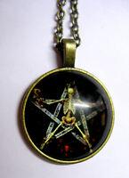 Halskette Pentagramm Necklace Drudenfuß Pentakel Fünfstern Magie Esoterik 304