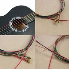 Acoustic Guitar Strings Guitar Strings One Set 6pcs Rainbow Colorful Color