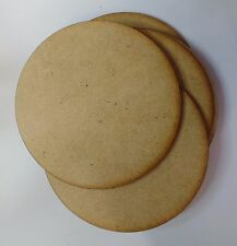 wooden coaster blanks 9cm  round MDF Pack of 10,25 or 50 craft shapes