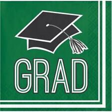 Graduation School Spirit Green Beverage Napkins 36 per Pack