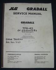 Jlg Gradall Tf6 42 Rough Terrain Forklift Telehandler Service Shop Repair Manual