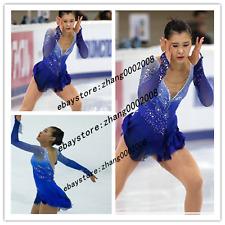 Ice skating dress.Popular Blue Figure Skating /Baton Twirling Costume