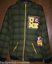 WWE John CENA Sherpa Hoodie NeW Boy's size 14/16  Zip-Up Jacket Fully Lined Coat