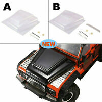 Transparent Car Hood Engine Cover for Traxxas TRX4 Land Rover Defender RC Truck