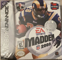 Sealed Madden NFL 2003 Nintendo Game Boy Advance GBA CIB Complete Excellent