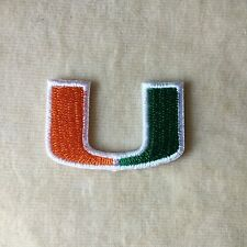 1.5inches MIAMI HURRICANES FOOTBALL UNIVERSITY EMBROIDERY IRON ON PATCH BADGE