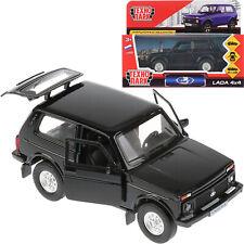 Lada Cossack 4x4 Niva VAZ 2121 Black Diecast Off-Road Vehicle Car Scale 1:36