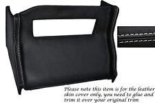 Punto Blanco Centro Consola Radio Envolvente De Cuero Skin Tapa se ajusta Mg Mgb 72-76