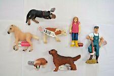 Bullyland Sammelfiguren / Konvolut aus 7 verschiedenen Figuren / Menschen Tiere