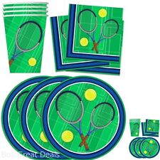 Tennis Birthday Party Supplies Set Plates Napkins Cups Tableware Kit for 16 by