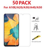 50-Pack Tempered Glass Clear HD Screen Protector For Samsung Galaxy A10e A40 A20