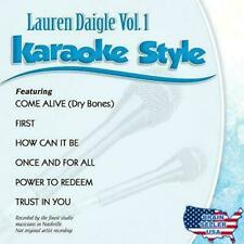 Lauren Daigle Volume 1 & 2 Karaoke Style CD G Daywind 12 Songs