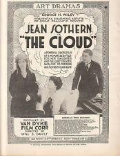 Jean Sothern Mae Melvin Franklyn Hanna 1917 Ad-The Cloud/ Van Dyke Film Corp