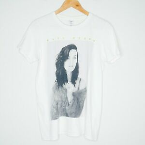Katy Perry Portrait Graphic Mens T-Shirt Size Small White