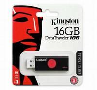 16GB USB Memory Flash Drive Kingston DataTraveler DT106/16GB Memory stick