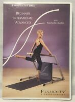 Fluidity 3 Workouts on 1 DVD Beginner Intermediate Advanced exercise fitness