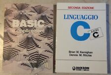 Jackson libri Linguaggio C ANSI C  e libro BASIC N.Balossino Lattes editori