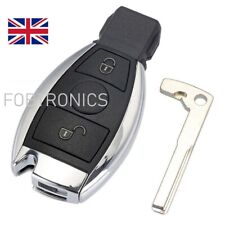NEW For MERCEDES BENZ 2 BUTTON SMART KEY FOB REMOTE CASE WITH BLADE + LOGO (A86)