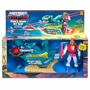 Masters of the Universe Origins Prince Adam with Sky Sled Brand New