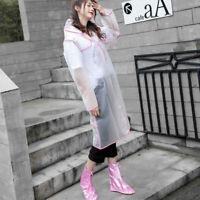Transparent Frosted Raincoat Waterproof Fashion Rain Poncho For Women dfs RWK