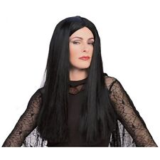 Morticia Addams Family Women's Black Long Hair Costume Wig