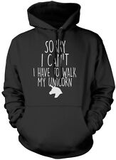 Sorry I Can't I Have To Walk To My Unicorn - Cute Fashion Kids & Teens Hoodie