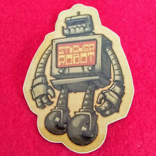 STICKER ROBOT Art Sticker / Window Decal Artist Reuben Rude Mechanical Character