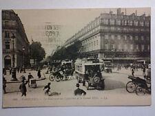 CARTOLINA PARIS LE BOULEVARD DES CAPUCINES GRAND HOTEL 26-8-1918 X Adria