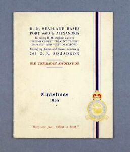 RAF 269 SQN OLD COMRADES ASSOCIATION VINTAGE 1953 CHRISTMAS GREETINGS CARD VEGA