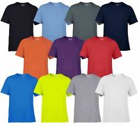 Gildan Mens Adult Performance Plain Rounded Neck T-Shirts 100% Polyester