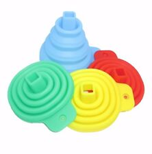 3 SET Silicone Collapsible Folding Silicon Kitchen Funnel Hopper Practical Tool
