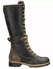 TIMBERLAND WOMEN'S DARK BROWN WHEELWRIGHT TALL LACE-UP BOOT SIZE:7