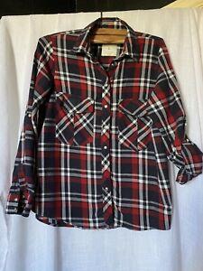 Zara Woman Cotton Check Shirt Size L