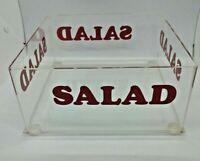 Vintage Mid-century Modern Morgan square lucite salad bowl