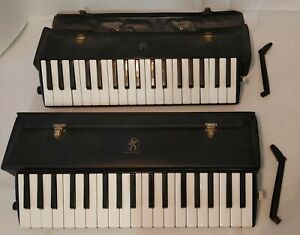 Vintage lot of 2 GERMANY Hohner Melodica Piano 36 Musical Instrument w case