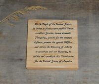 Preamble of US Constitution Mounted Rubber Stamp #29