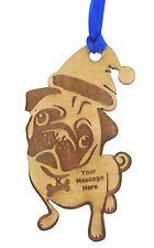 Personalised Pet Christmas Tree Decoration Dog Pug Christmas Gift