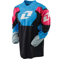 NEW ONE INDUSTRIES CARBON BLACK/BLUE JERSEY MX ATV BMX YOUTH KIDS  LARGE L