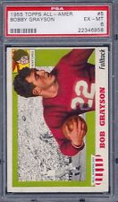 1955 Topps Football All - American # 5 Bobby Grayson PSA 6