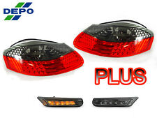 DEPO 97-04 PORSCHE BOXSTER 986 RED/SMOKE TAIL + LED BUMPER SIDE MARKER LIGHTS