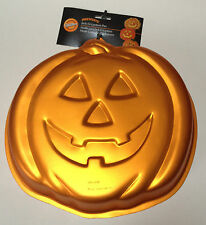 wilton iridescents cake pan mold pumpkin orange halloween autumn