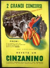 1938 CINZANINO concorso Giro Italia Francia CICLISMO