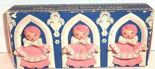 Avon Pink Hostess Soaps LITTLE CHOIR BOYS Set of 3 Fragranced Soap Vtg