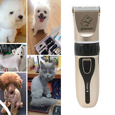 Pet Cat Dog Hair Trimmer Electrical Clipper Shaver Set Haircut Machine EU Plug